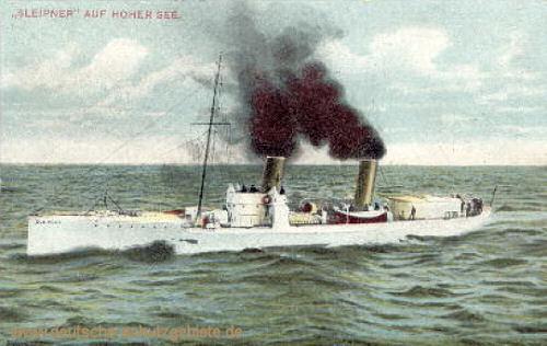 S.M.S. Sleipner auf hoher See