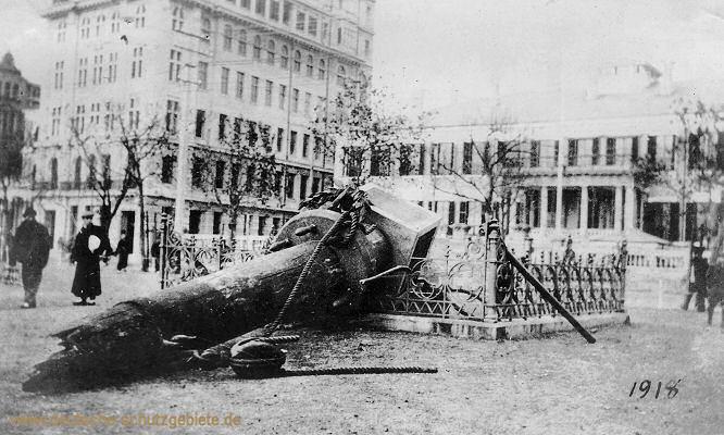 Schanghai, das zerstörte Iltisdenkmal 1918