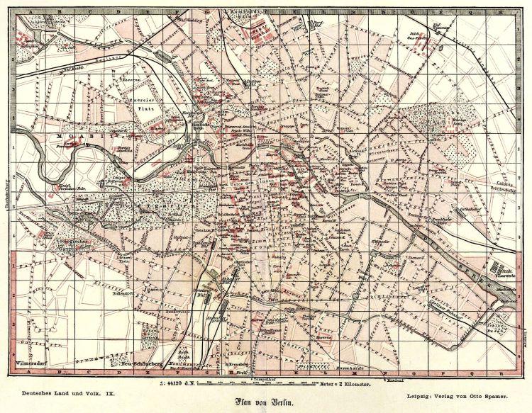 Berlin, Stadtplan - Plan von Berlin 1882
