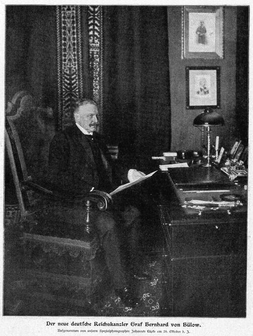 Der neue deutsche Reichskanzler Graf Bernhard von Bülow