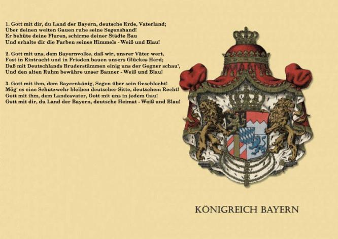 Gott mit dir, du Land der Bayern (Originalfassung 1858)