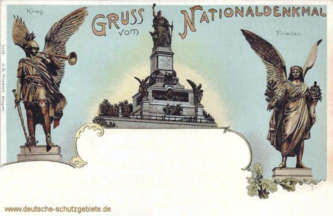 Niederwalddenkmal, Krieg und Frieden