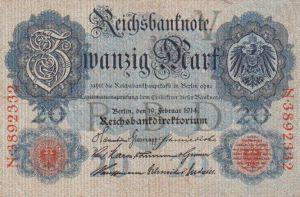 Reichsbanknote 20 Mark 19.02.1914, Vorderseite