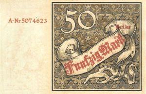Reichskassenschein 50 Mark 10.01.1882 Rückseite