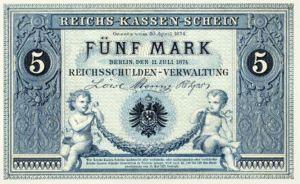 Reichskassenschein 5 Mark 11.07.1874 Vorderseite