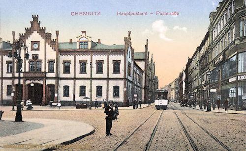Chemnitz, Hauptpostamt, Poststraße