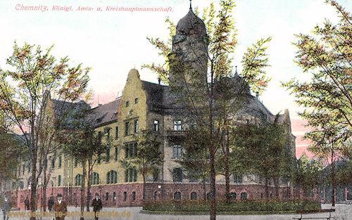Chemnitz, Königliche Amts- und Kreishauptmannschaft