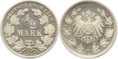 Deutsches Reich ½ Mark 1905