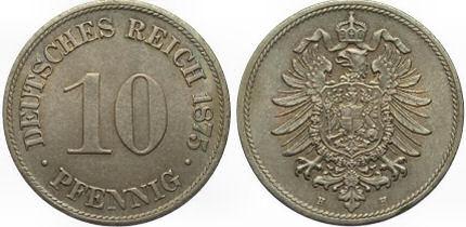 Deutsches Reich 10 Pfennig 1875