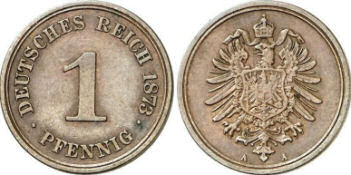 Deutsches Reich 1 Pfennig 1873