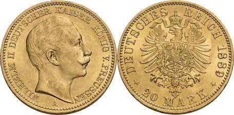 Deutsches Reich 20 Mark 1889 (Preußen)