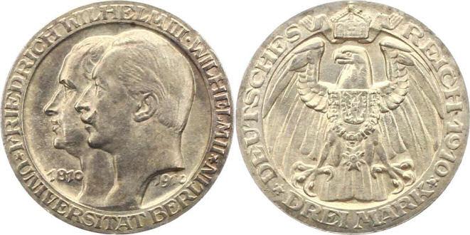 Deutsches Reich 3 Mark 1910 (Preußen)