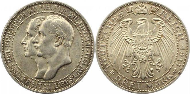 Deutsches Reich 3 Mark 1911 (Preußen)