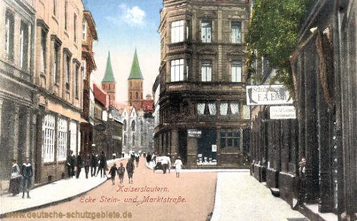 Kaiserslautern, Ecke Stein- und Marktstraße