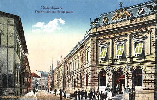 Kaiserslautern, Theaterstraße mit Hauptpost