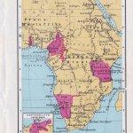 Landkarte die deutschen Kolonien in Afrika