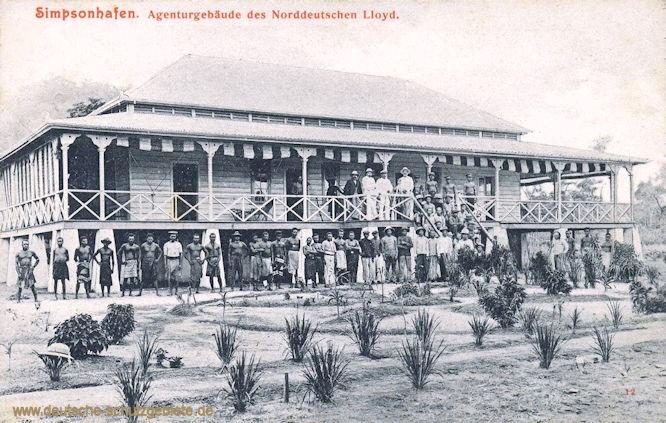 Simpsonhafen, Agenturgebäude des Norddeutschen Lloyd