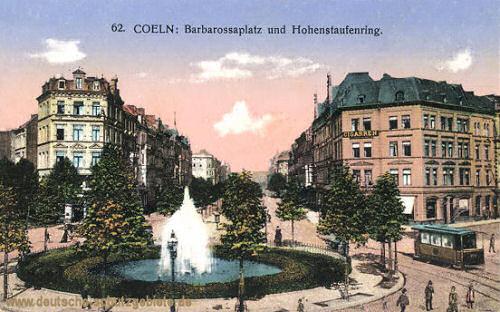 Köln, Barbarossaplatz und Hohenstaufenring