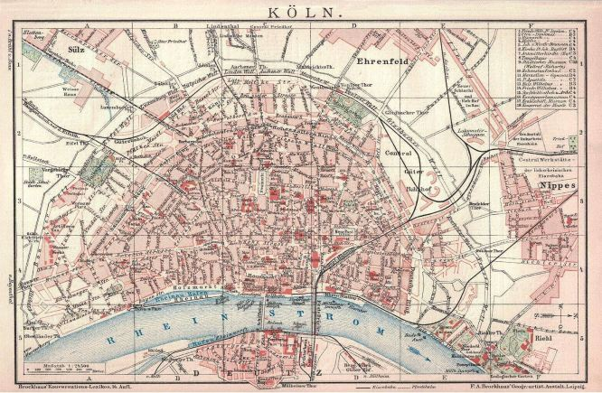 Köln Stadtplan, 1905