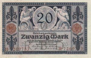 Reichsbanknote 20 Mark 04.11.1915 Vorderseite