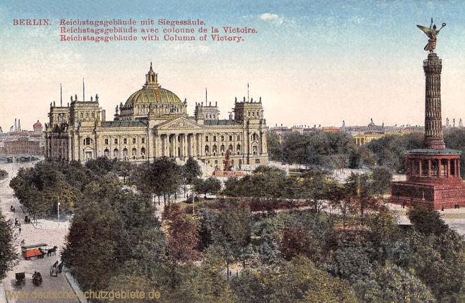 Berlin, Reichstagsgebäude mit Siegessäule