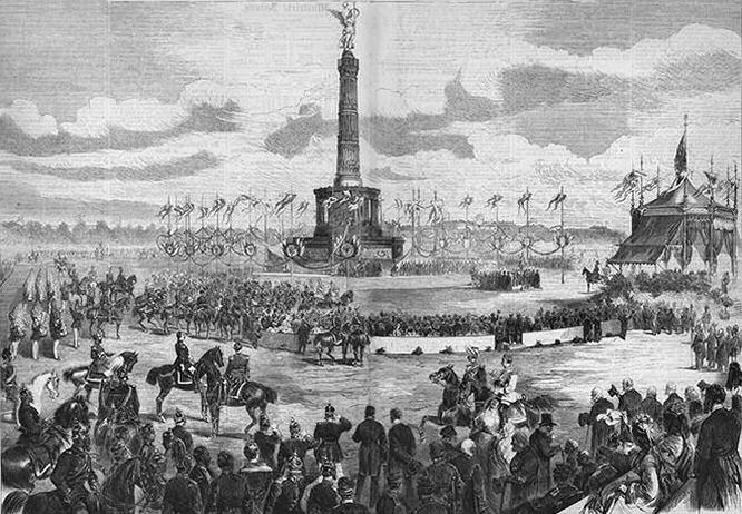 Feierliche Einweihung der Siegessäule 1873