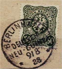 Berlinhafen Deutsch-Neu-Guinea 9/8 88, 50 Pfennig
