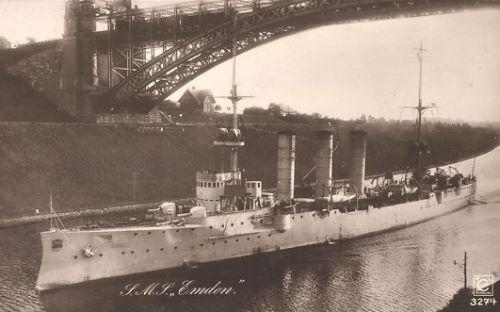 S.M.S. Emden im Kaiser Wilhelm-Kanal