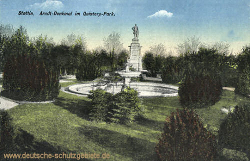 Stettin, Arndt-Denkmal im Quistorp-Park