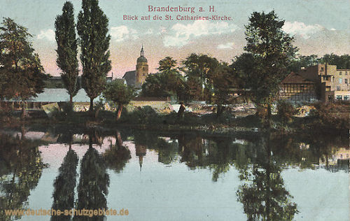 Brandenburg a.H., Blick auf die Catharinen-Kirche