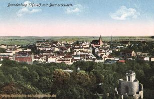 Brandenburg a. H. mit Bismarckwarte