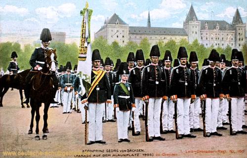 Kronprinz Georg von Sachsen, Parade auf dem Alaunplatz zu Dresden 1905