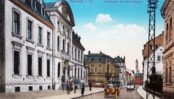 Meerane, Poststraße mit Kaiserlichen Postamt