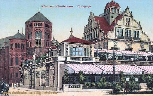 München, Künstlerhaus und Synagoge