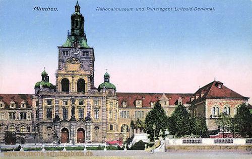 München, Nationalmuseum und Prinzregent Luitpold-Denkmal