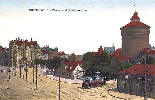 Nürnberg, Am Plärrer und Spittlertorturm