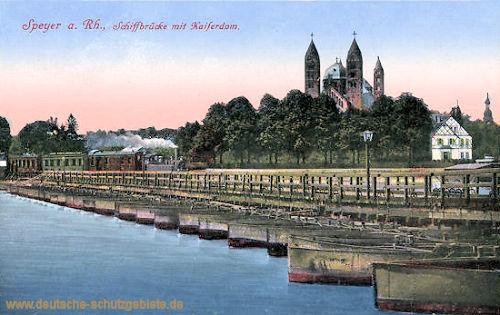 Speyer, Schiffbrücke mit Kaiserdom