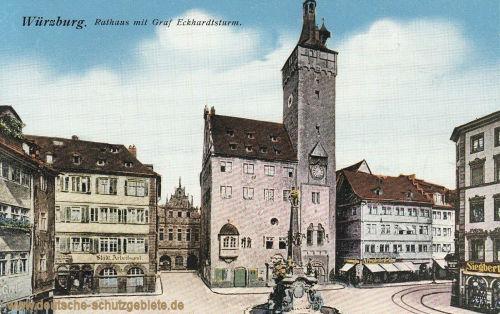 Würzburg, Rathaus mit Graf Eckardtsturm