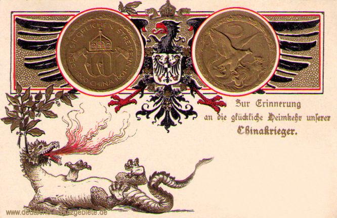 China-Denkmünze 1900-01