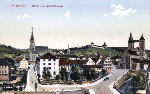 Esslingen, Blick von der Agnesbrücke