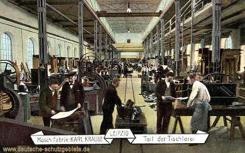Leipzig, Maschinen Fabrik Karl Krause, Teil der Tischlerei