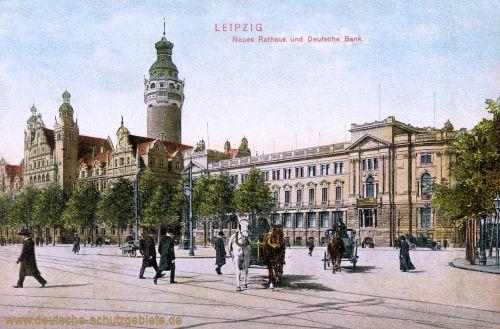 Leipzig, Neues Rathaus und Deutsche Bank
