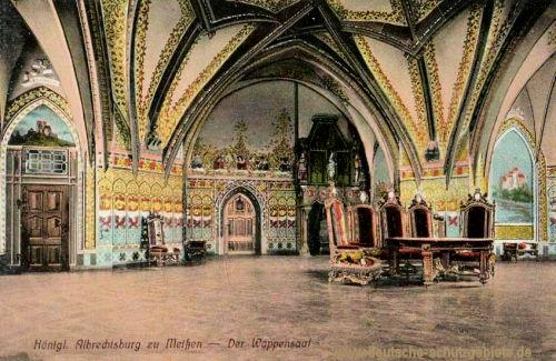 Meißen, Königliche Albrechtsburg, Der Wappensaal
