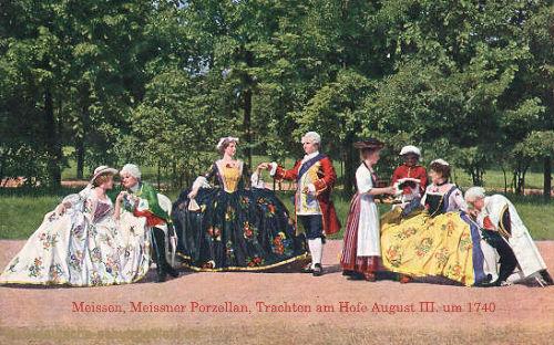 Meissen, Meissner Porzellan, Trachten am Hofe August III. um 1740