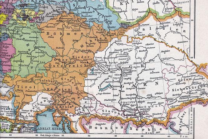 Österreichischer Teil des Deutschen Bundes 1815 - 1866