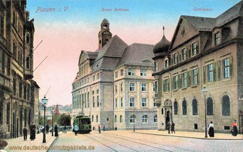 Plauen i. V., Neues Rathaus, Sparkasse