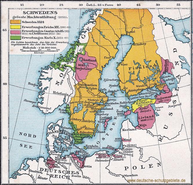 Schwedens größte Machtentfaltung 1658