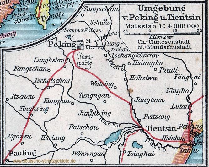 Umgebung von Peking und Tientsin 1900