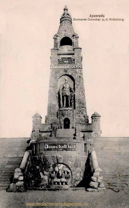 Apenrade, Bismarck-Denkmal auf dem Knivsberg
