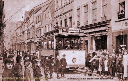 Bingen, Schmidtstraße mit elektrischer Straßenbahn